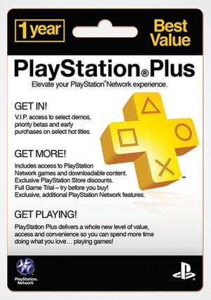 PlayStation Plus membership cards