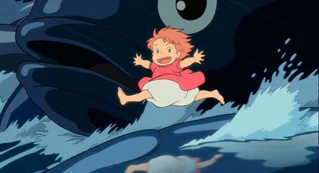 ponyo running on water blu-ray screen shot
