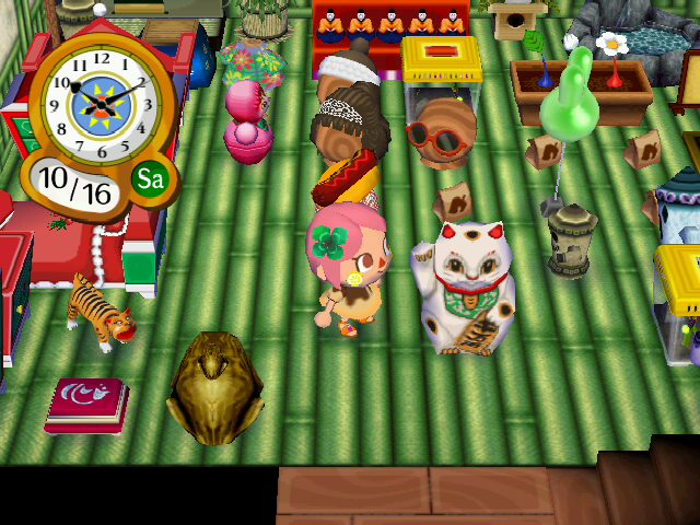 Animal Crossing City Folk Maneki Neko Lucky Cat screen shot