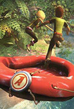 River Rush: This whitewater-rafting game is part of the Kinect Adventures for Xbox 360, designed to be played with the Kinect sensor attachment. Players lean their bodies one way or another to steer the raft.